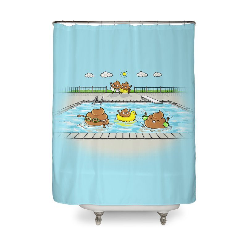 Dropping The Kids Off Home Shower Curtain by Made With Awesome