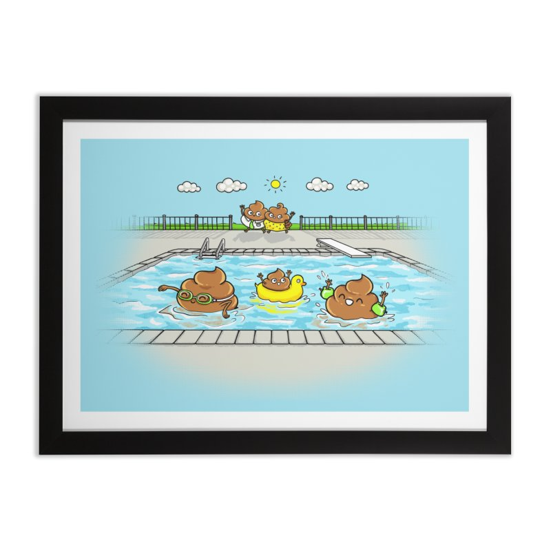 Dropping The Kids Off Home Framed Fine Art Print by Made With Awesome