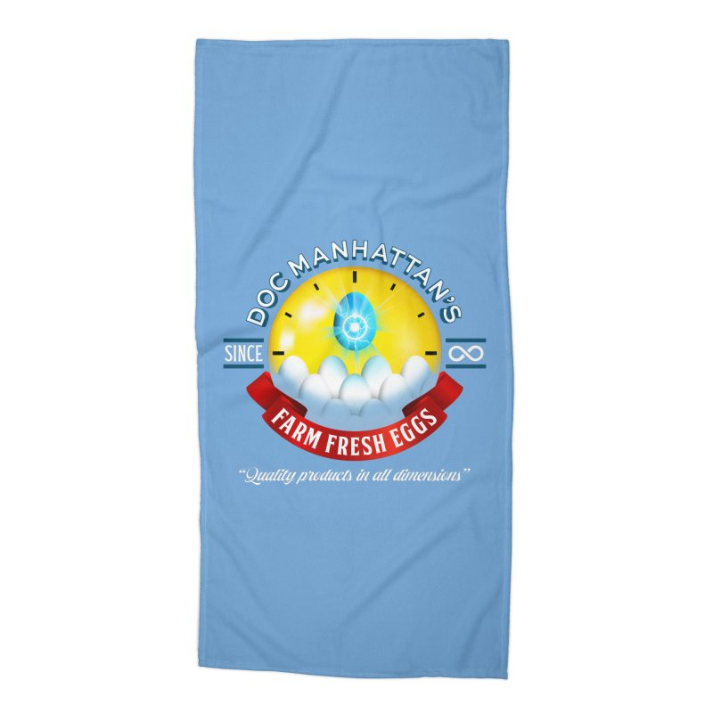 Doc Manhattan's Eggs Accessories Beach Towel by Made With Awesome
