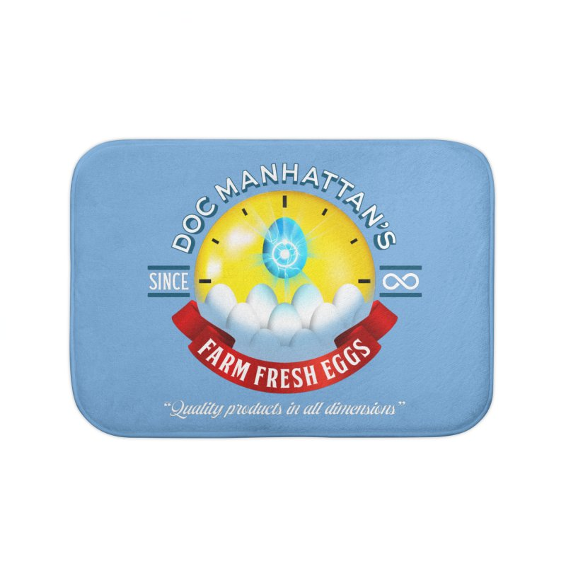 Doc Manhattan's Eggs Home Bath Mat by Made With Awesome