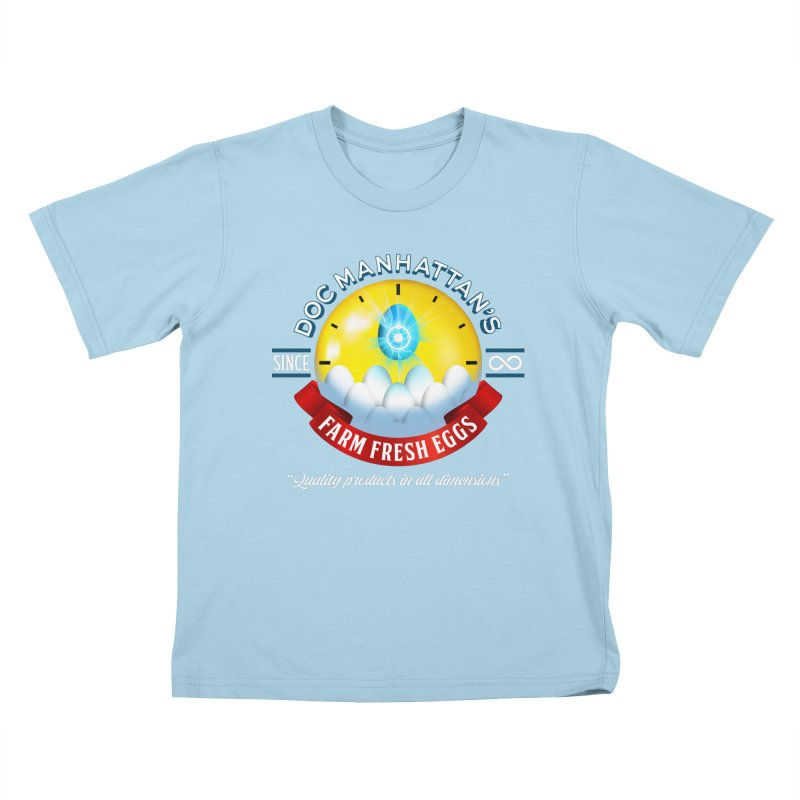 Doc Manhattan's Eggs Kids T-Shirt by Made With Awesome