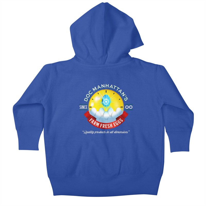 Doc Manhattan's Eggs Kids Baby Zip-Up Hoody by Made With Awesome