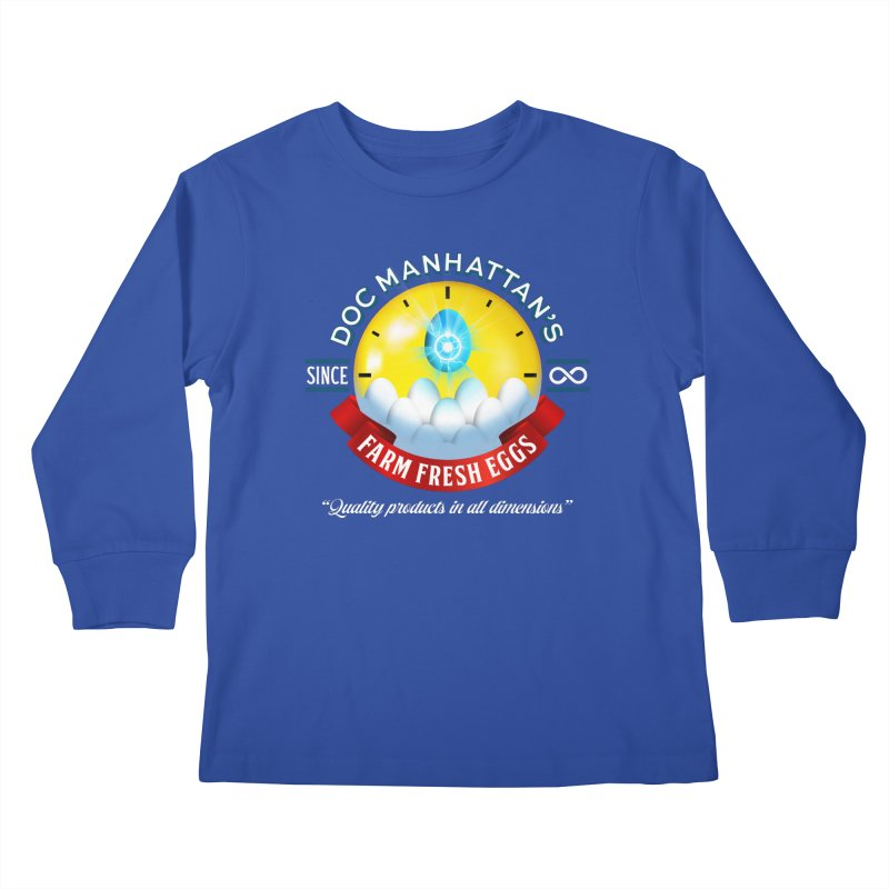 Doc Manhattan's Eggs Kids Longsleeve T-Shirt by Made With Awesome