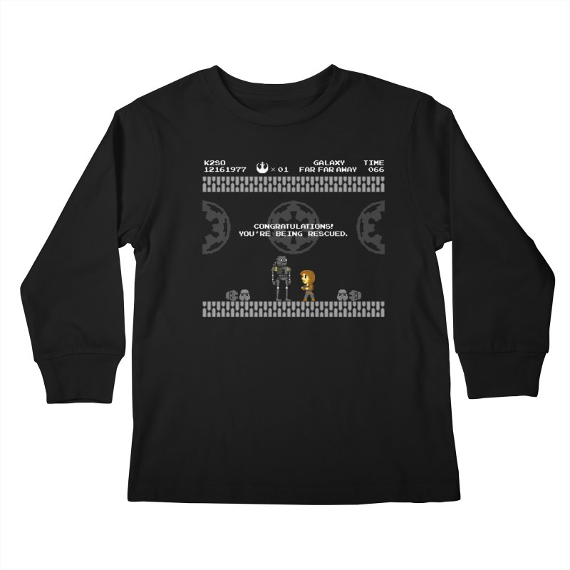 Super Rebellion Bros Kids Longsleeve T-Shirt by Made With Awesome