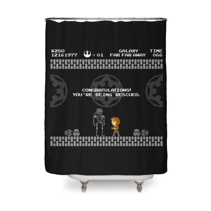 Super Rebellion Bros Home Shower Curtain by Made With Awesome