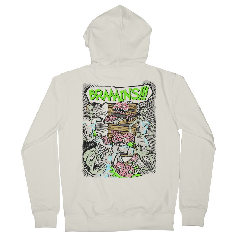 BRAINS! Men's Zip-Up Hoody by Made With Awesome