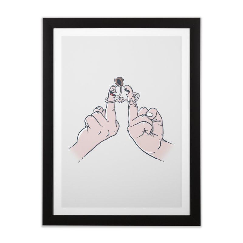 Civil Disagreement Home Framed Fine Art Print by Made With Awesome