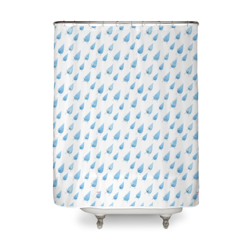 Raining Cats and Dogs (All-Over Print) Home Shower Curtain by Made With Awesome