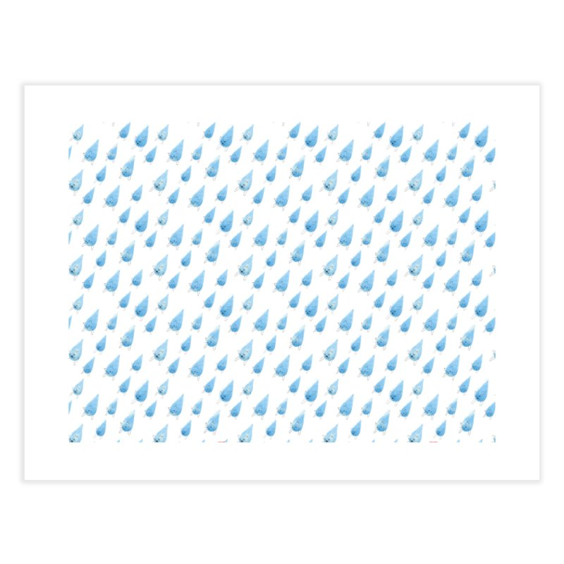 Raining Cats and Dogs (All-Over Print) Home Fine Art Print by Made With Awesome
