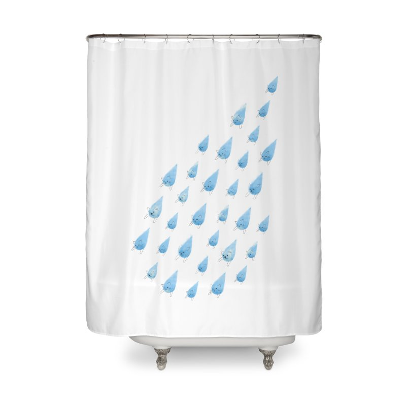 Raining Cats and Dogs Home Shower Curtain by Made With Awesome
