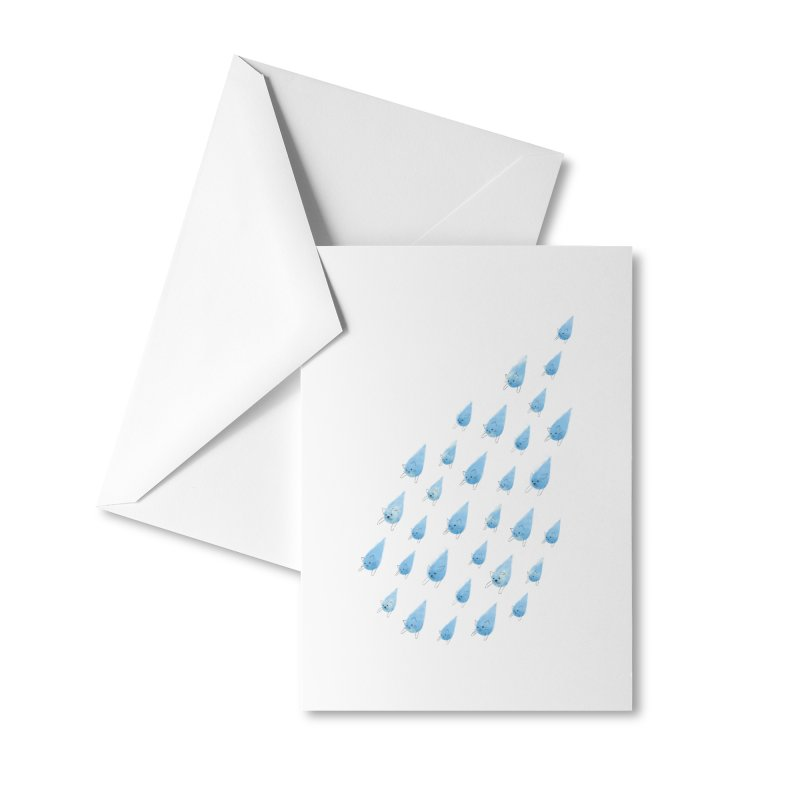 Raining Cats and Dogs Accessories Greeting Card by Made With Awesome