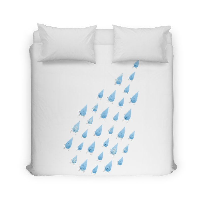 Raining Cats and Dogs Home Duvet by Made With Awesome