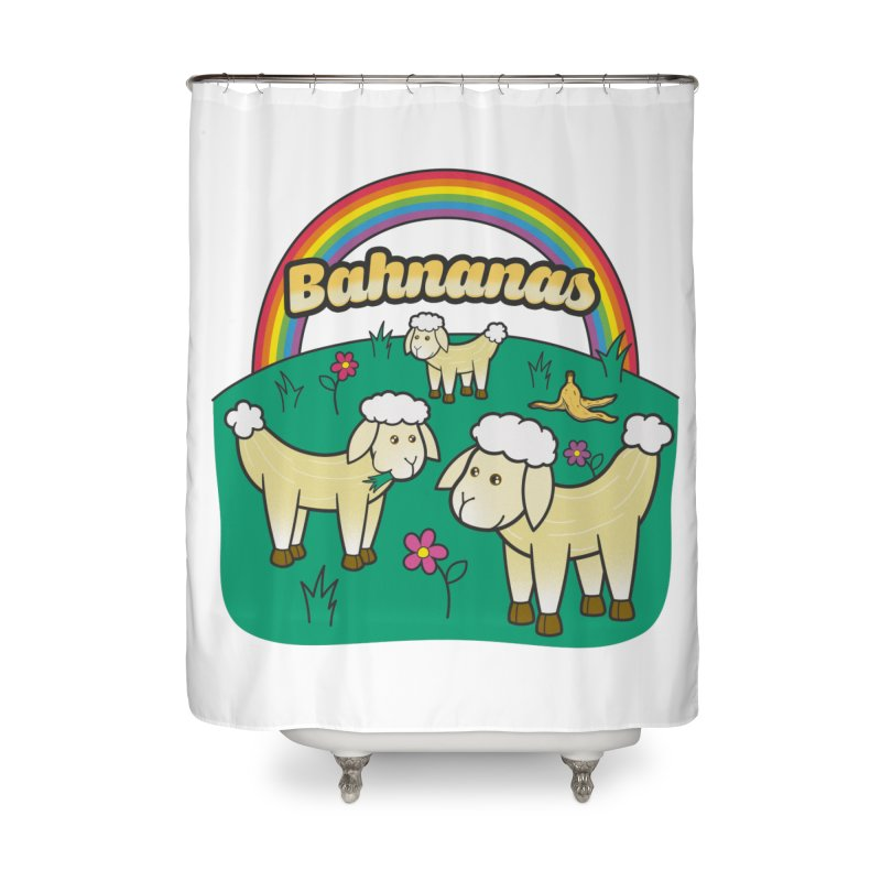 Bahnanas Home Shower Curtain by Made With Awesome