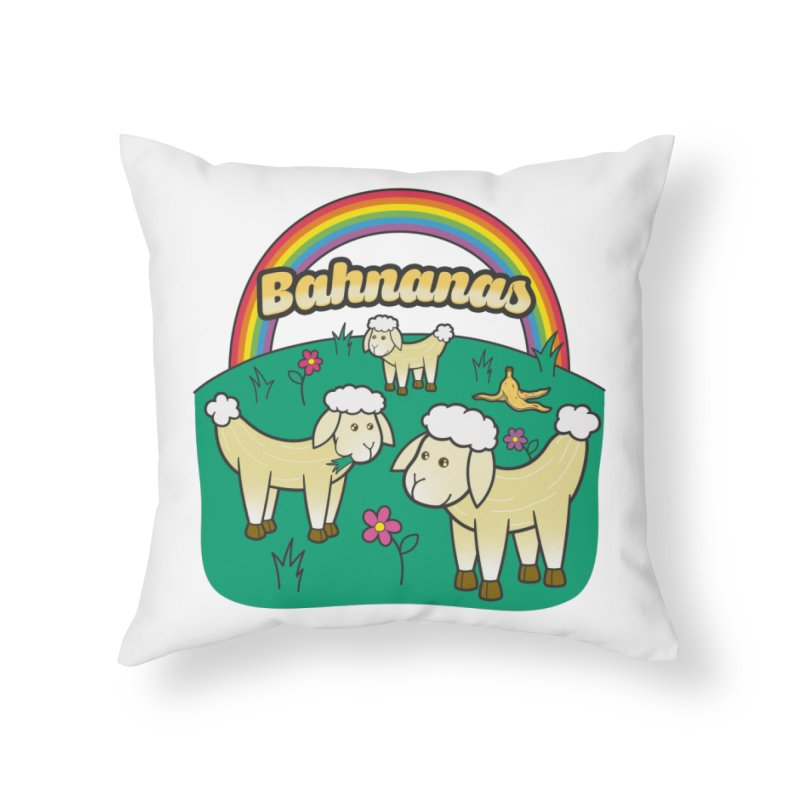 Bahnanas Home Throw Pillow by Made With Awesome