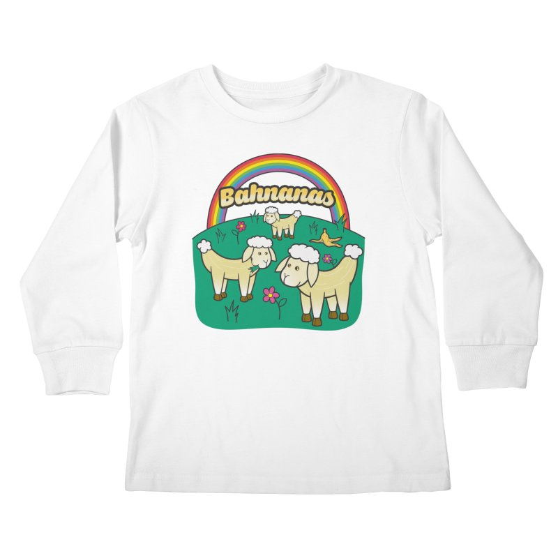 Bahnanas Kids Longsleeve T-Shirt by Made With Awesome