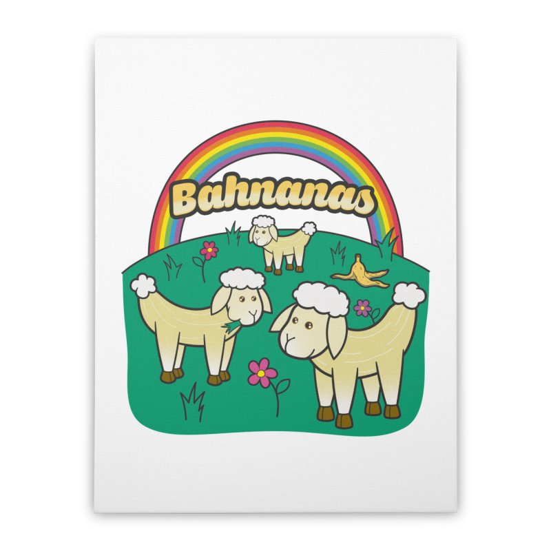 Bahnanas Home Stretched Canvas by Made With Awesome