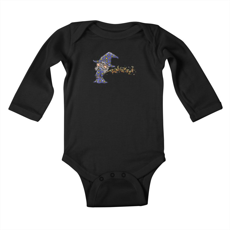 Whizzard Magic Kids Baby Longsleeve Bodysuit by Made With Awesome