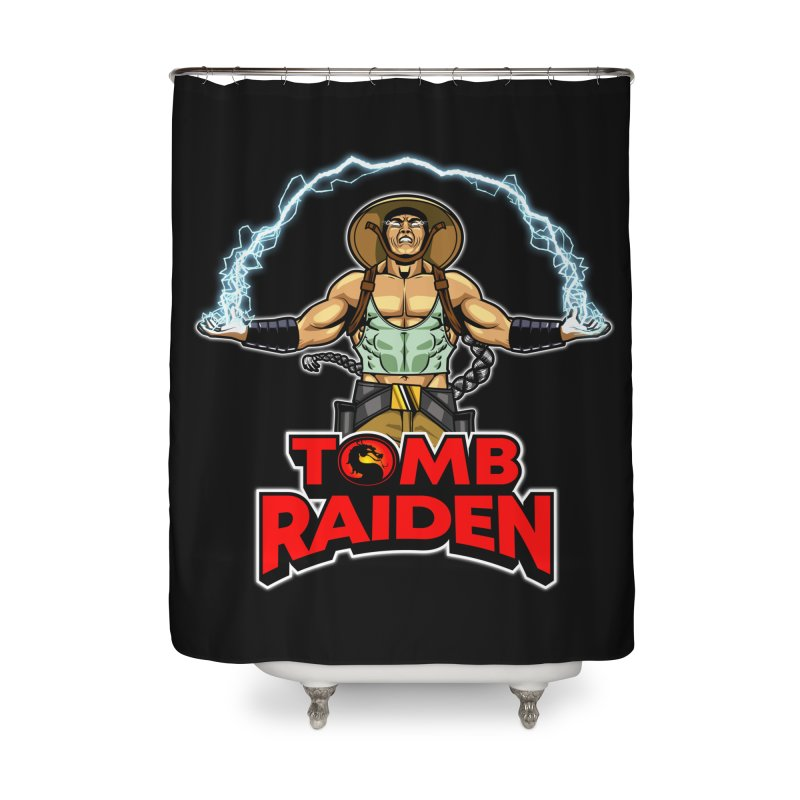 Tomb Raiden Home Shower Curtain by Made With Awesome