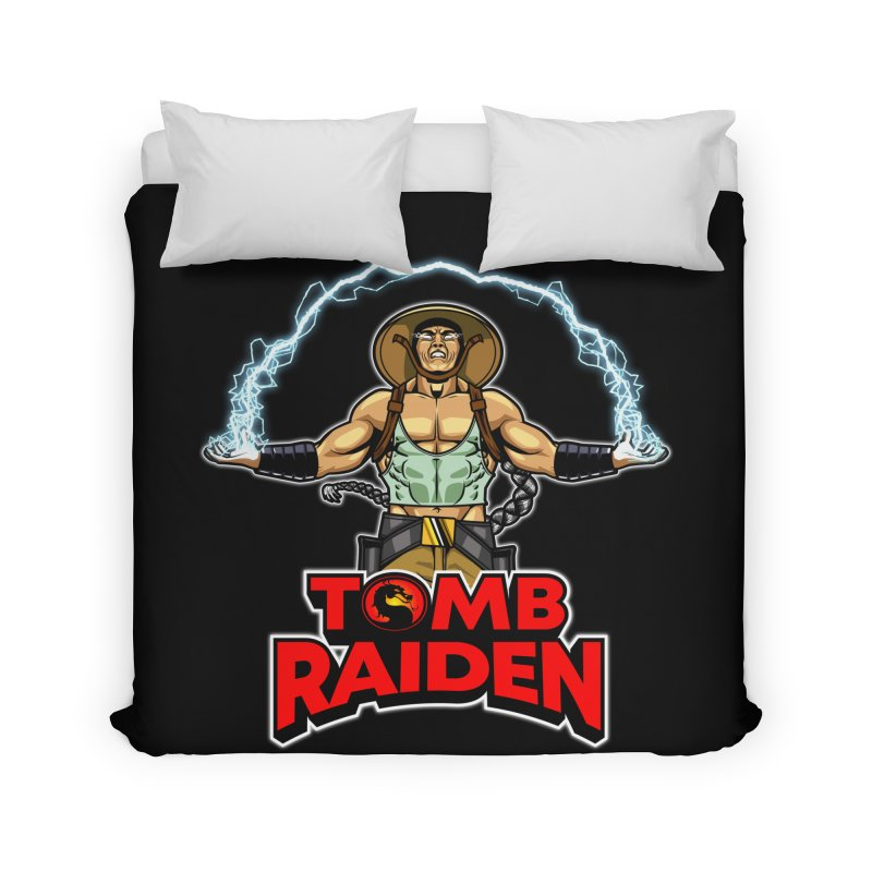 Tomb Raiden Home Duvet by Made With Awesome