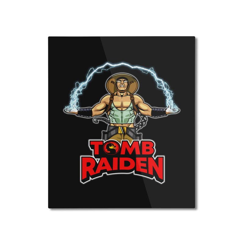 Tomb Raiden Home Mounted Aluminum Print by Made With Awesome