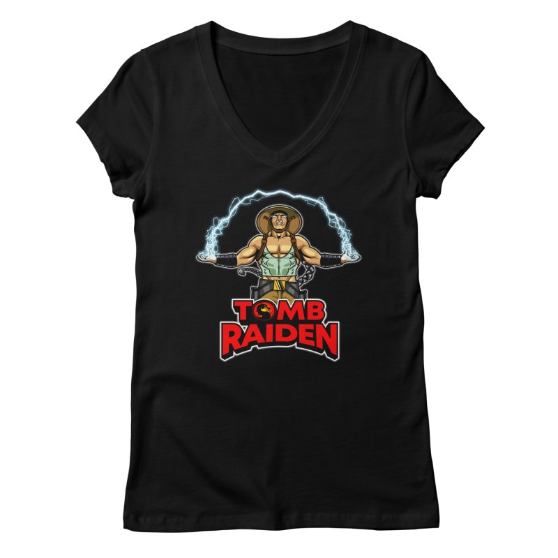 Tomb Raiden Gals V-Neck by Made With Awesome