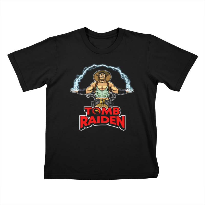 Tomb Raiden Kids T-Shirt by Made With Awesome