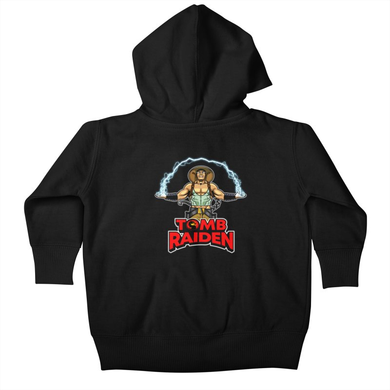 Tomb Raiden Kids Baby Zip-Up Hoody by Made With Awesome