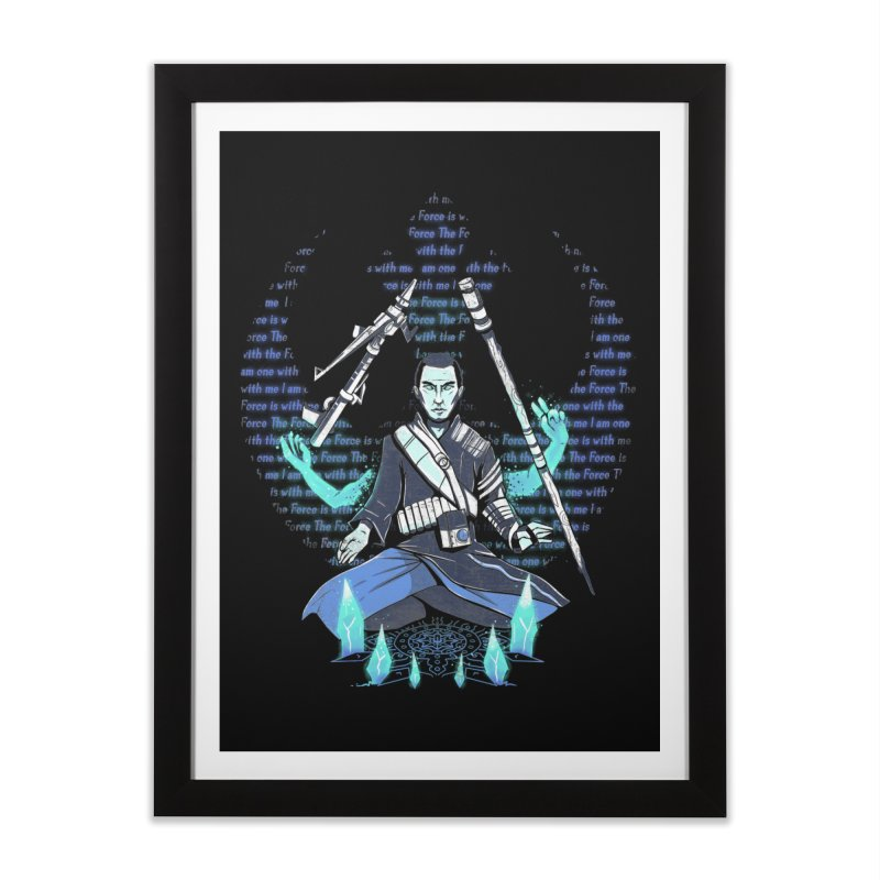 One With The Force Home Framed Fine Art Print by Made With Awesome