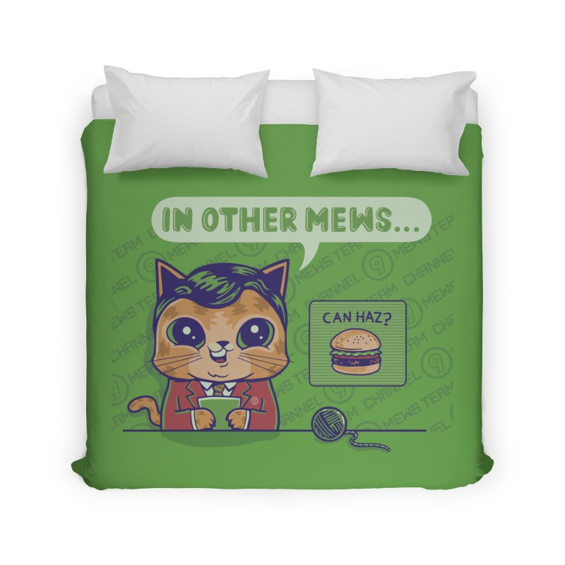 Mewsflash Home Duvet by Made With Awesome
