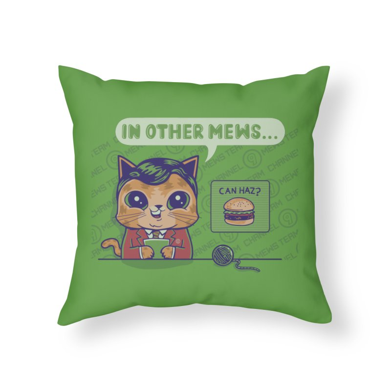 Mewsflash Home Decor Throw Pillow by Made With Awesome