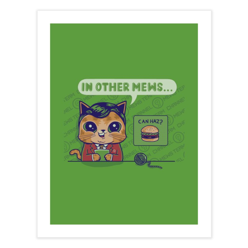 Mewsflash Home Decor Fine Art Print by Made With Awesome