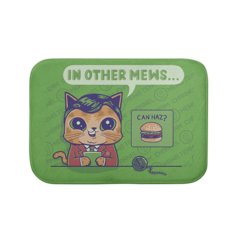 Mewsflash Home Bath Mat by Made With Awesome
