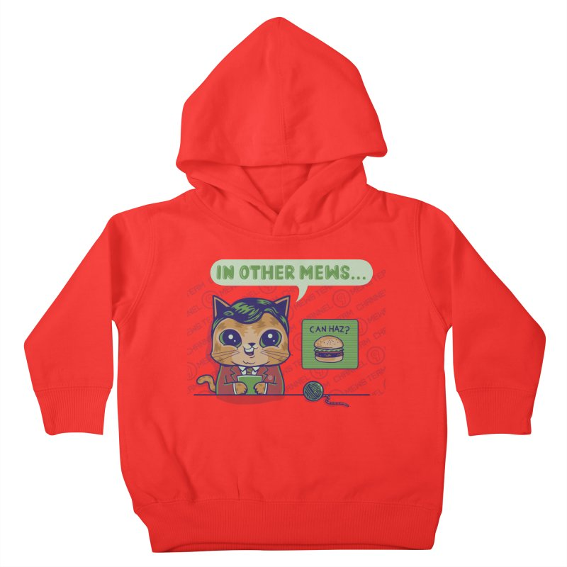 Mewsflash Lil' Ones Toddler Pullover Hoody by Made With Awesome