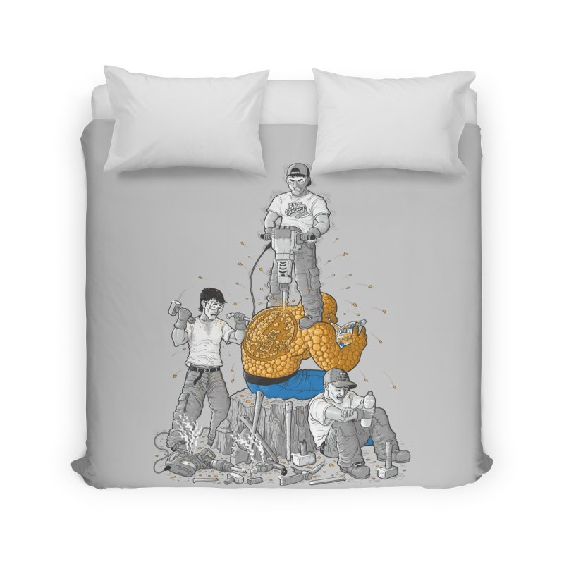 Permanent Ink Home Duvet by Made With Awesome