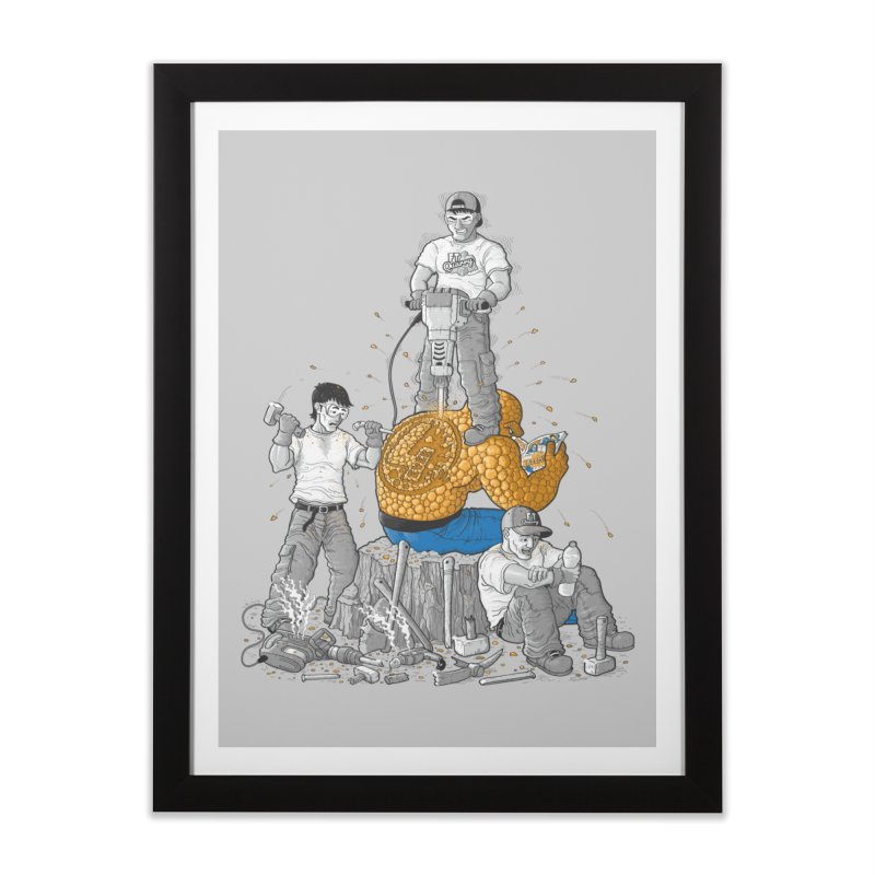 Permanent Ink Home Framed Fine Art Print by Made With Awesome