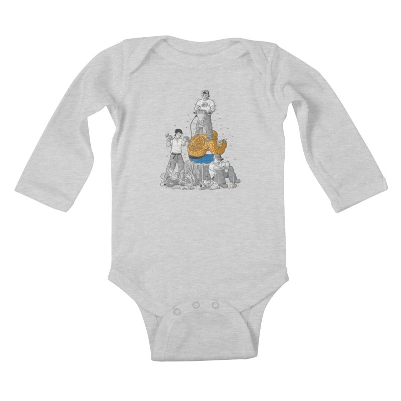 Permanent Ink Kids Baby Longsleeve Bodysuit by Made With Awesome