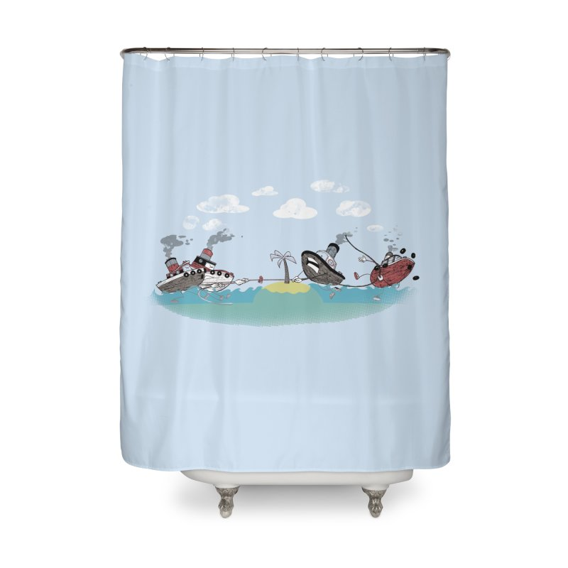 Tug Of War Home Shower Curtain by Made With Awesome