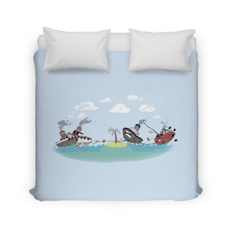 Tug Of War Home Duvet by Made With Awesome