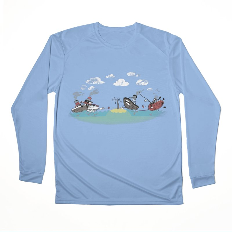 Tug Of War Guys Longsleeve T-Shirt by Made With Awesome