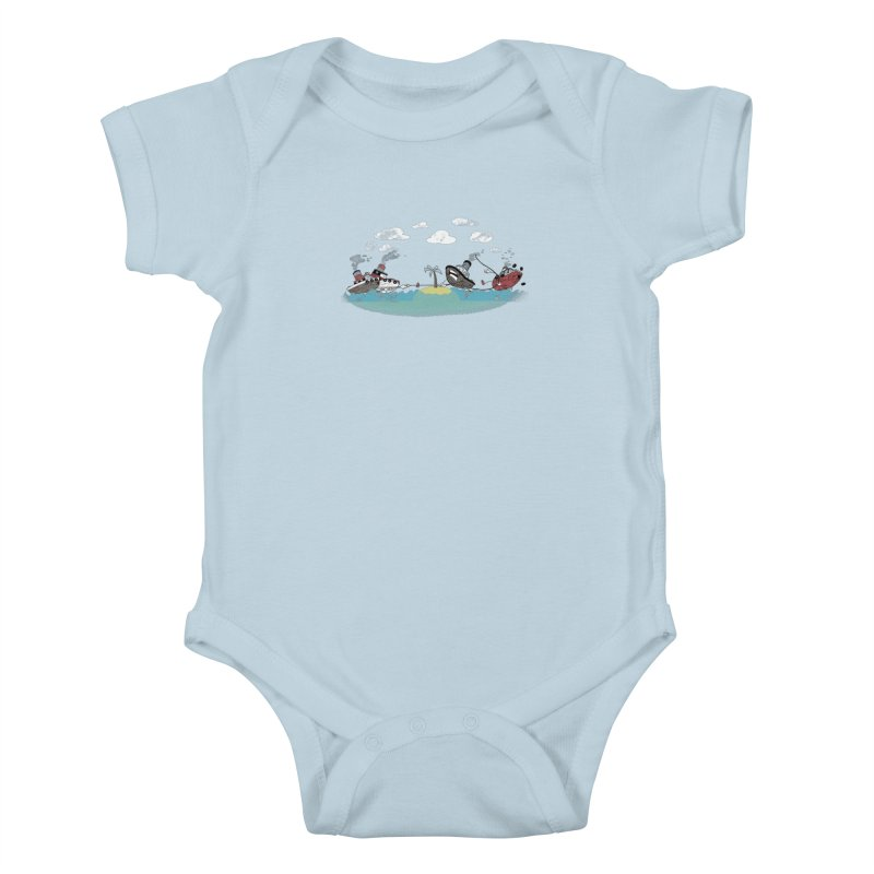 Tug Of War Kids Baby Bodysuit by Made With Awesome