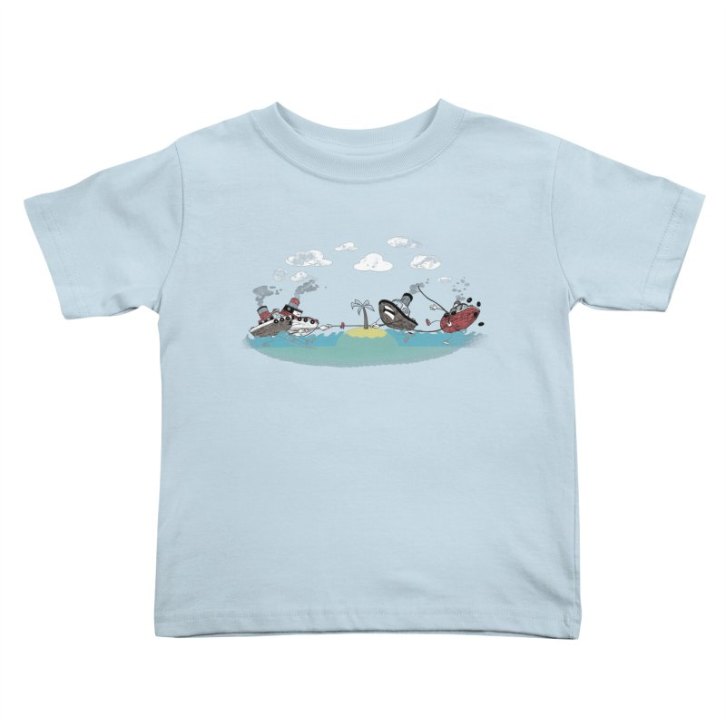 Tug Of War Kids Toddler T-Shirt by Made With Awesome
