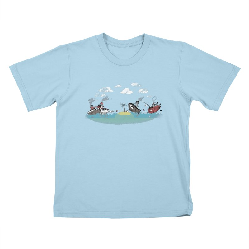 Tug Of War Kids T-Shirt by Made With Awesome