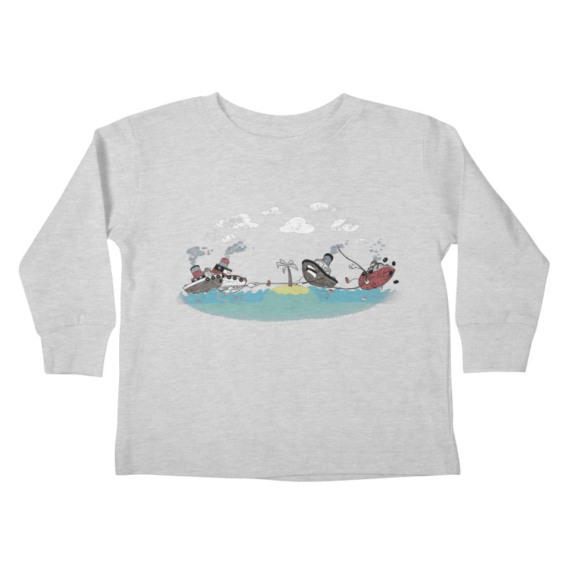 Tug Of War Kids Toddler Longsleeve T-Shirt by Made With Awesome