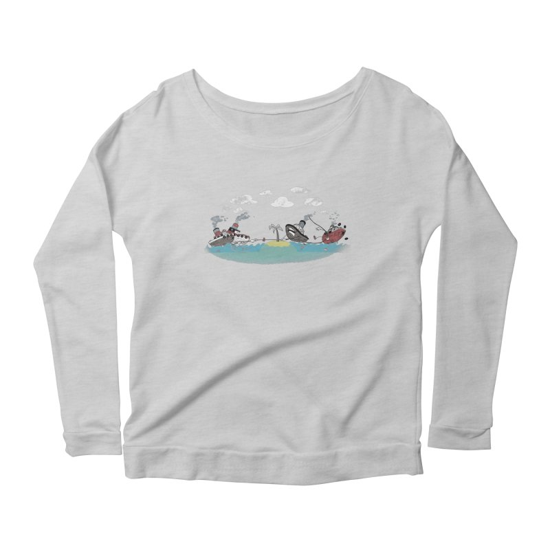 Tug Of War Gals Longsleeve T-Shirt by Made With Awesome