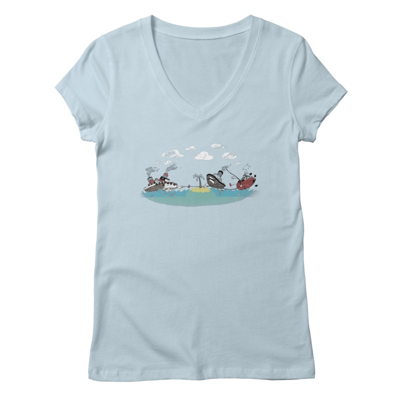 Tug Of War Women's V-Neck by Made With Awesome