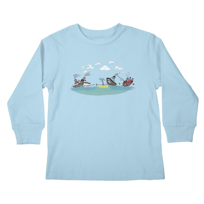 Tug Of War Kids Longsleeve T-Shirt by Made With Awesome