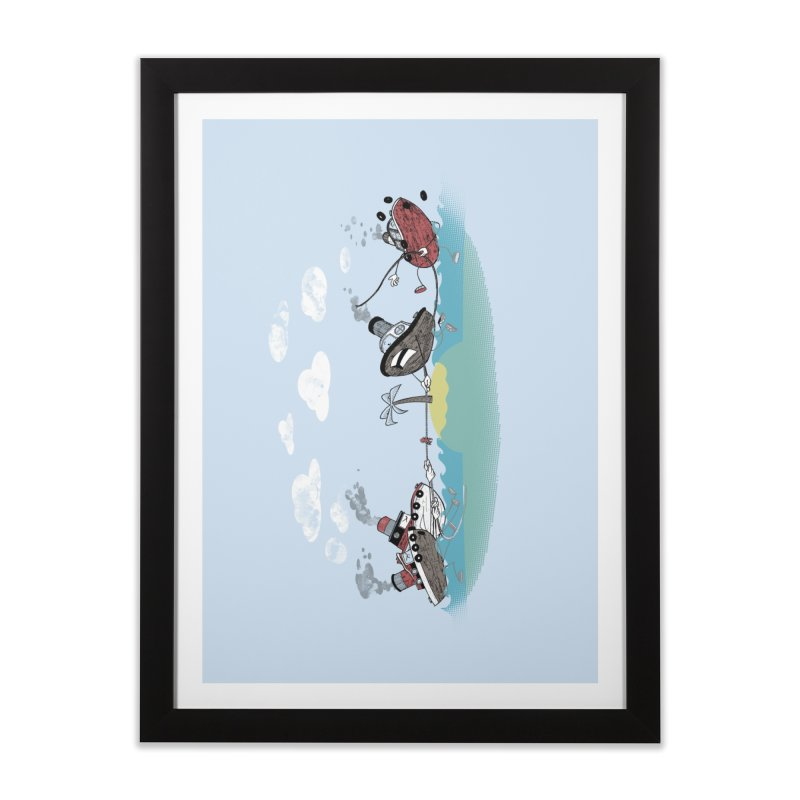 Tug Of War Home Framed Fine Art Print by Made With Awesome