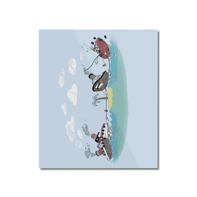 Tug Of War Home Mounted Acrylic Print by Made With Awesome