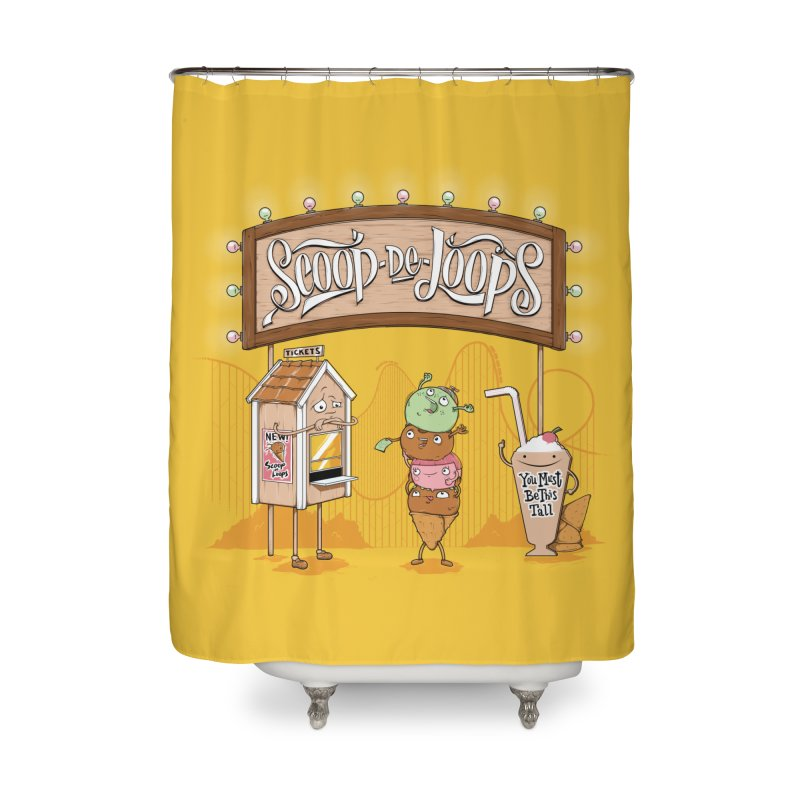 Scoop De Loops Home Shower Curtain by Made With Awesome