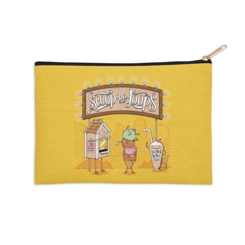 Scoop De Loops Accessories Zip Pouch by Made With Awesome